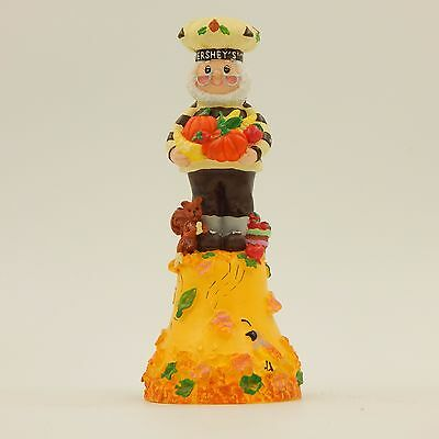 Hand Bell Mr Hershey Chocolate Fall Autumn Thanksgiving Retired 2000 Collectible