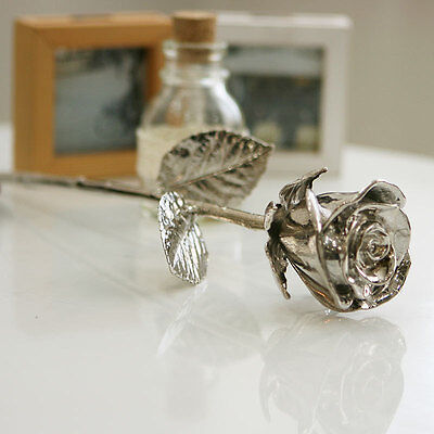 GRK003/24k Silver Dipped Roses with gift case mother's day valentine's day