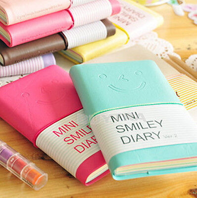 Enduring Diary Notebook Memo Faddish Portable Smile Smiley Paper Note Book SPCA