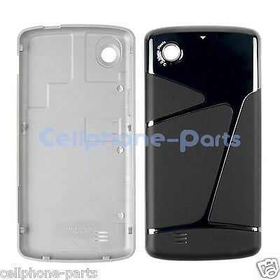 OEM LG Chocolate Touch VX8575 Back Cover Battery Door, Black and Silver