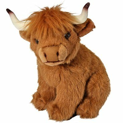 20cm Living Nature Highland Cow Soft Toy - Plush Cuddly Toy - For all ages (0+)