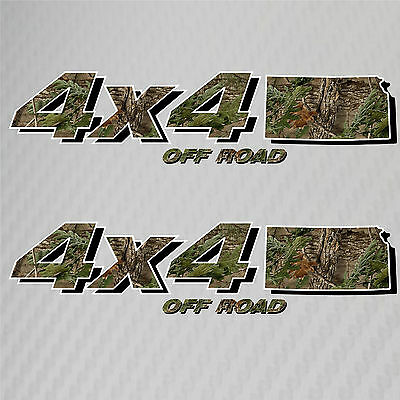4x4 Truck Off Road Kansas Hunting Deer Camo Decal Ford Chevy GMC Dodge Toyota