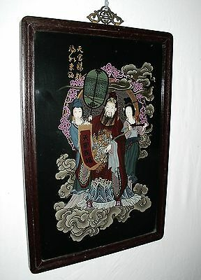 Chinese Vintage Imperial Reverse Hand Painted Glass  Painting