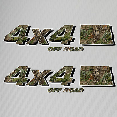 4x4 Truck Off Road North Dakota Hunting Deer Camo Decal Ford Chevy Dodge Toyota
