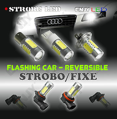 1 Ampoule Strobo Reversible Anti Brouillard Feux De Penetration Led Strobe Flash