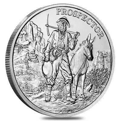 Lot of 5 - 1 oz Prospector Silver Round .999 Fine