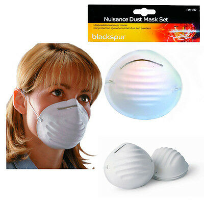 6pc Disposable Dust Mask Nuisance Breathe Protection DIY White Face Covers Pack