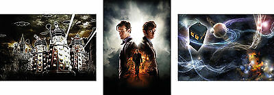 Dr Who Trilogy Poster Set - A4 A3 A2 A1 Sets Available