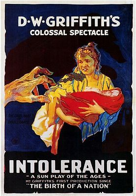 DW Griffith 'Intolerance' Classic 1916 Silent Movie 7x5 inch Repro Poster