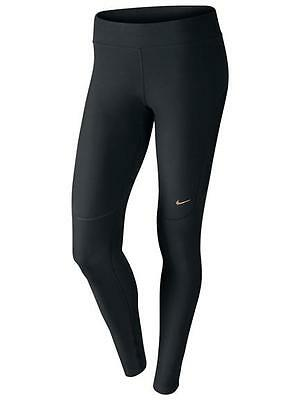 New Womens Black Nike DriFit Filament Long Running Tights Size 16 X-Large