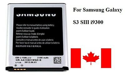 Brand New Samsung Galaxy S3 SIII Battery Replacement For i9300 i747 T99 - Canada