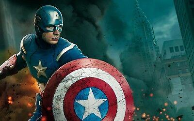 Modern Home art Decor  Captain America oil painting Printed on canvas  24x16