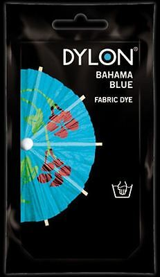 Dylon Fabric Dye Hand Use 50g Pack Clothes - Bahama Blue ** CLEARANCE PRICE **