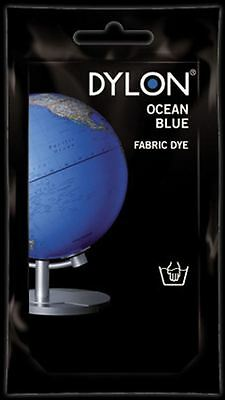 Dylon Fabric Dye Hand Use 50g Pack Clothes - Ocean Blue ** CLEARANCE PRICE **