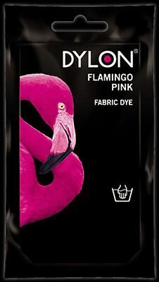 Dylon Fabric Dye Hand Use 50g Pack Clothes - Flamingo Pink ** CLEARANCE PRICE **