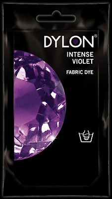 Dylon Fabric Dye Hand Use 50g Pack Clothes Intense Violet ** CLEARANCE PRICE **