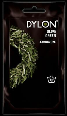 Dylon Fabric Dye Hand Use 50g Pack Clothes - Olive Green ** CLEARANCE PRICE **