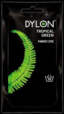 Dylon Fabric Dye Hand Use 50g Pack Clothes Tropical Green ** CLEARANCE PRICE **