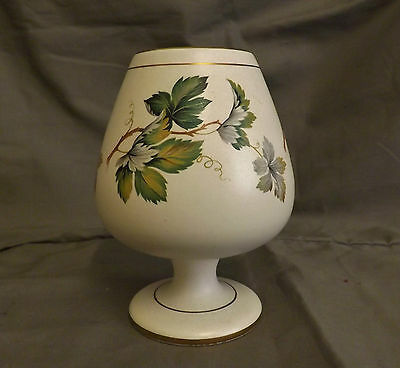 FLORA KERAMIEK GOUDA HOLLAND PETRA  BRANDY GLASS SHAPED FOOTED VASE