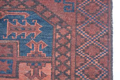Alter Ersari Afghan Teppich 100% Wolle rot! Afghan rug Tapis Tappeto alfombra
