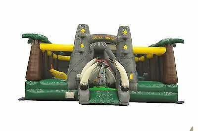 Commercial Inflatable Jurassic Bounce House Combo Slide FREE SHIPPING & BLOWER