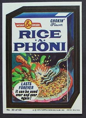 1979 WACKY PACKAGES #30 RICE PHONIC C5
