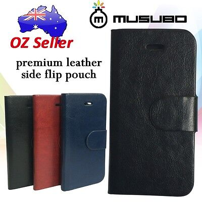 Genuine Musubo Leather cover case card pouches Motorola Moto G 1st  Gen 4.5""