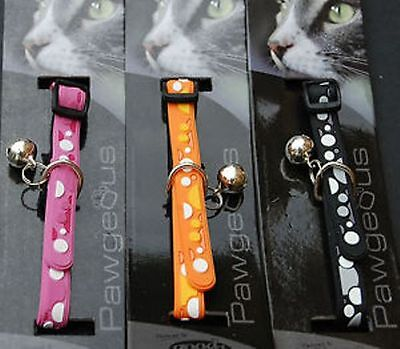 Designer Cat Collars With Bell And Id Tag Hand Engraved - Bubbles