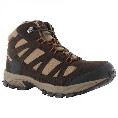 Mens Hi Tec Alto Leather Hiking Trekking Waterproof Boots Walking Trainers Shoes