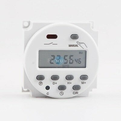 DC 110V 16A LCD Digital Programmable Timer Switch Time Relay 8 Cycles 17 ON/OFF