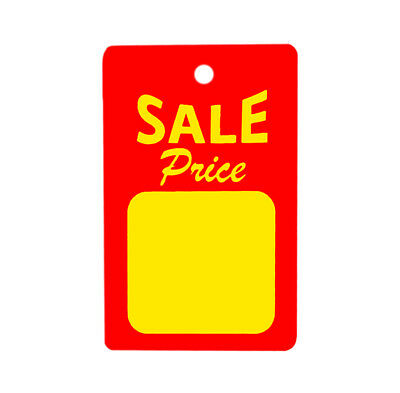 1000 All Purpose Small Red Yellow Sale Price Unstrung Coupon Merchandise Tags