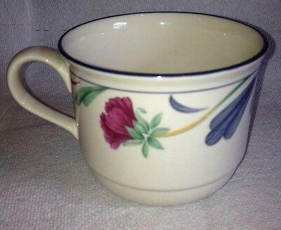 6) LENOX POPPIES ON BLUE CUPS ONLY EUC STACKABLE