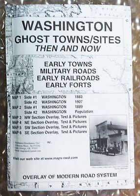 WASHINTON GHOST TOWNS  & Sites Then and Now Historical MAPS with Modern Overlays