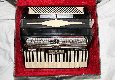 * Vintage Accordion Castiglione 408  with Case, Made in Italy