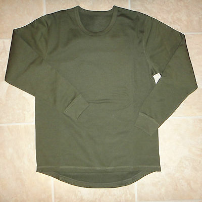 British Army Thermal Vest Undershirt Fleece Lined Quick Drying Base Layer Cadets