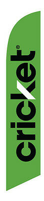 NEW APPROVED 2016 Green Cricket wireless Feather Banner Swooper Flag - FLAG ONLY
