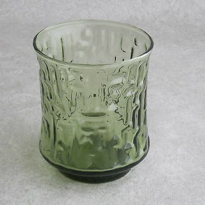 Libbey Artica Juice Glass Olive Green 6-oz Textured Abstract Midcentury Modern