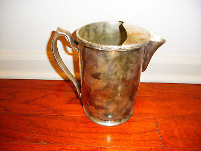 VINTAGE ''GRAND SILVER CO.'' WATER PITCHER !!!