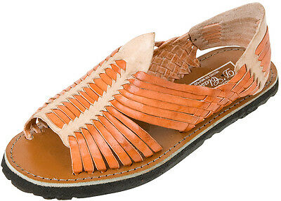 MEN'S Authentic PACHUCO Huarache Sandals REDDISH BROWN/NATURAL Mexican Huaraches