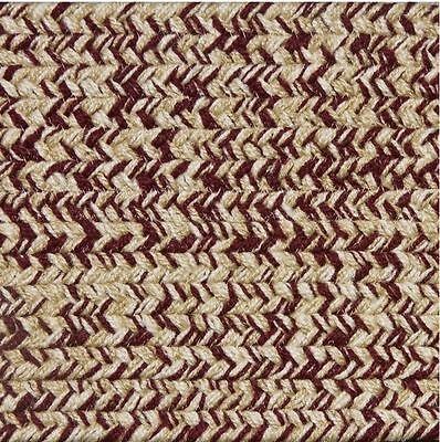Burgundy, Beige, Cream Tweed Colonial Home Polypropylene Braided Rug 450TW