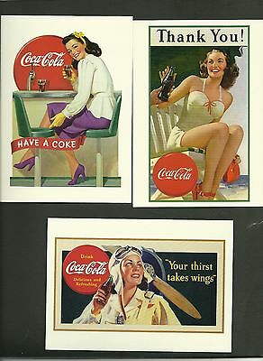 Coca Cola collectible post cards . Lot of 5