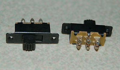 2pcs Double Rows 6 Pins 2 Position SPDT Panel Mount Mini Slide Switch