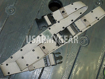 Made in US Army USMC Military LC-2 Tan Desert Tactical Pistol WEB Utility Belt L