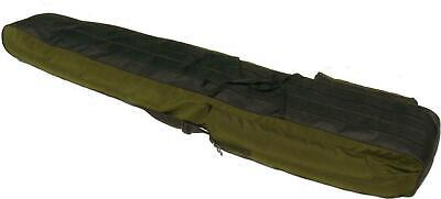 2 POCKETS 190cm FISHING HOLDALL BAG LUGGAGE for made up rods & reels GREEN BLACK
