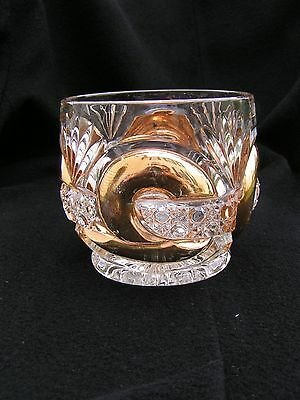 Scroll with Cane Band  With Gold Sugar Bottom EAPG