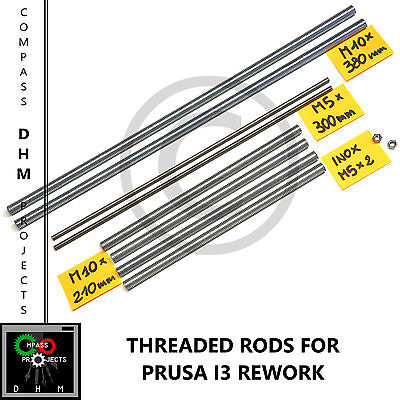 Barre filettate Prusa i3 Rework - stainless steel threaded rods M5/10- Reprap 3D