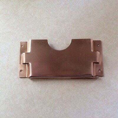 Vintage Metal Church Pew Attendance Offering Card Pencil Holder Made Of Copper