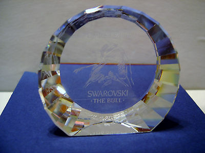 SCS Swarovski Crystal Bull Paperweight RARE 2004 NEW MINT IN BOX