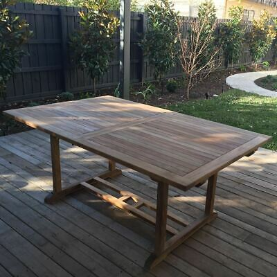 Outdoor Furniture Solid Teak Wood Rectangular Extension Table 2.4mt  REDUCED!!!