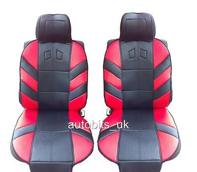 Red Sport Front Seat Covers Cushion Universal Car Van Truck Motorhome Lorry
